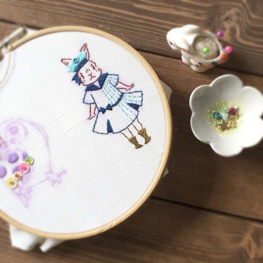 6月の刺繍ブローチ販売予定のお知らせ