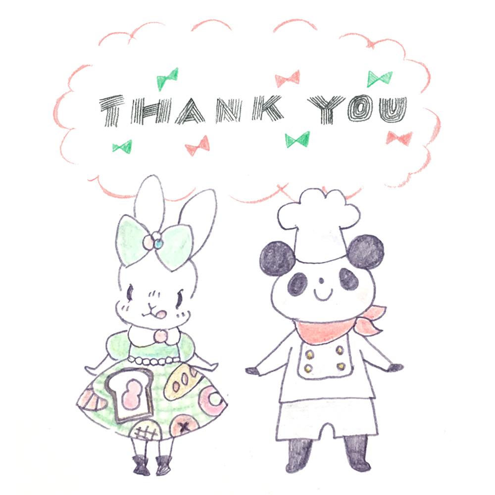『森のパン屋さん』感謝の気持ちと通販のお知らせ♪